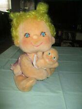 Vintage Hugga Bunch Doll Precious Hugs W Baby Fluffer Original Clothes 1985