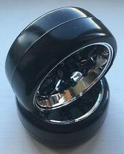 ABSIMA 2510041 1/10 PEIGNE / Profile B noir/CHROME ROUE et pneumatique set (4