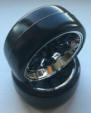 ABSIMA 2510041 1/10 comb / profile B Noir / chrome roue & pneu set (4 pcs) plume