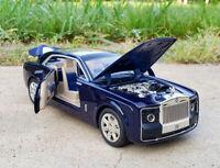 1:24 Rolls-Royce Sweptail Metal Diecast Model Car Light Sound Pullback Blue
