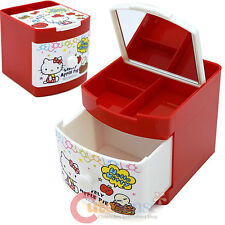 Sanrio Hello Kitty Jewelry Box Mini Organizer Storage Pencil Holder Apple Red