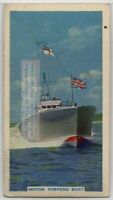 British Navy Motor Torpedo Boat 80+ Y/O Trade Ad Card