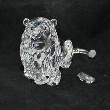 1995 Swarovski Crystal Figurine Annual Edition Lion 185410 AS IS CF01146