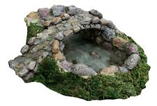 Miniature Garden Stone Pond  and Bridge MG16 Dollhouse Fairy Gnome Garden