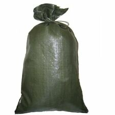 Pack of 25 Yuzet Green PP Sand Bags With Ties Flood Protection Sack Sandbag