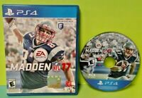 Madden 17 NFL Football Game - Sony Playstation 4 PS4 - Tested GRONK ! PATRIOTS