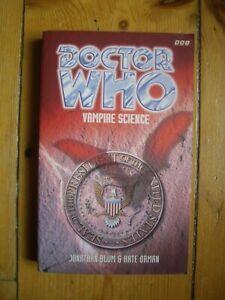 Doctor Who Vampire Science, 1997 Eighth Doctor Adventures (EDA), BBC book *RARE*