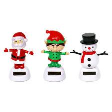 Pack of 3 Solar Powered Dancing Christmas Ornaments (Santa, Elf, Snowman)