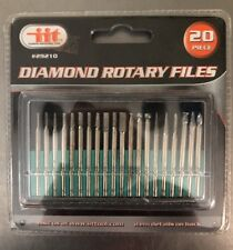 20 Piece Diamond Rotary Files Crafters, Modelers, Jewelry Repair, Home Use, Etc.