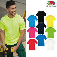Fruit of the Loom Performance Tee -Men's Breathable Sports Gym Poly T-shirt Top