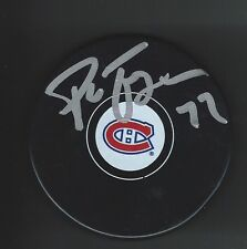 Pierre Turgeon Signed Montreal Canadiens Puck