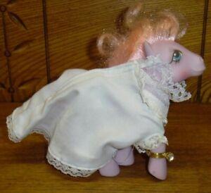 My Little Pony Satin N Lace Bride Horse Figurine w/ Wedding Ring