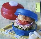 round sandwich keepers set of 2 new pink and blue bagle