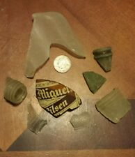Lot of 8 tumbled beach glass large variety from Palawan Sulu Sea Philippines