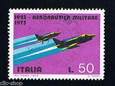 ITALIA 1 FRANCOBOLLO AERONAUTICA MILITARE 50 LIRE 1973 usato