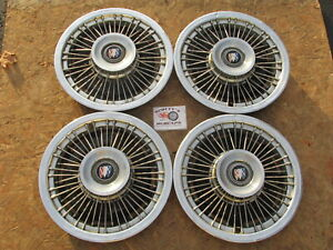 """1969-73 BUICK LESABRE, DELUXE, ELECTRA 225 15"""" WIRE WHEEL COVERS HUBCAPS SET ~4~"""