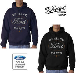 Velocitee Mens Hoodie Official Licensed Genuine Ford Parts Logo Design A21281