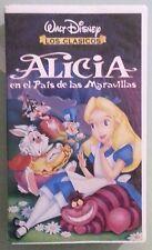 walt disney los clasicos ALICIA EN EL PAIS DE LAS MARAVILLAS  VHS VIDEOTAPE