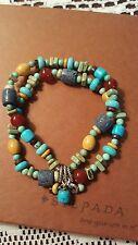 Silpada.925 Sterling Silver Howlite Coral Carnelian Jasper Bracelet B1677
