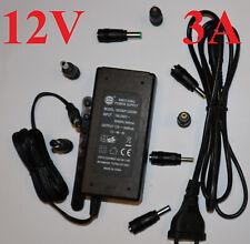 Adapter 12V 3A LED Netzteil 2A 1A 1.35 1,7mm 2,1 2,5mm 3.0 4.0 Stecker Power Sup