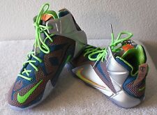 NEW Nike Lebron XII GS Boys Basketball Shoes 7 Reflect Blue/Metallic MSRP$160