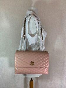 NEW Tory Burch Pink Moon Kira Chevron Convertible Shoulder Bag $528