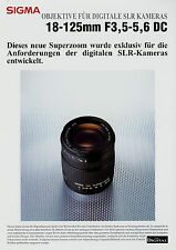 Prospekt Sigma Objektiv 18-125 mm F3,5-5,6 DC 6/04 2004 brochure lens broschyr
