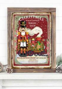 soldier nutcracker Christmas Print Sign,Picture Wall Decor, A4 Unframed Train