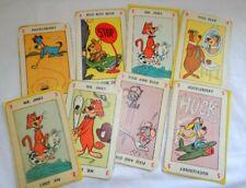 1959 Kelloggs Playing Cards Yogi Bear Huckleberry Hound Lot or 8 Cards