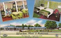 Sylvania, GEORGIA - Syl-va-Lane Motel & Restaurant - ROADSIDE MULTIVIEW - 1956