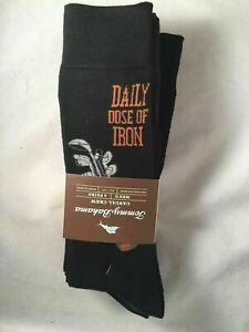 TOMMY BAHAMA Daily Dose of Iron Golf 4-Pk CASUAL CREW SOCKS Black O/S NWT $22.00