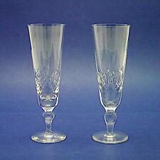 More details for two stuart crystal 'glengarry' pattern champagne flutes/glasses - 18.5cm high
