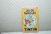 JEU DE CARTE DE FAMILLES TINTIN HERGE 1993 VINTAGE CARD  BE