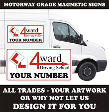 REMOVABLE MAGNETIC SIGNS 2 x 600mm X 400mm  VAN CAR ANY VEHICLE FREE DESIGN