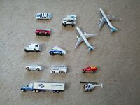 Daron Boeing Aircraft Playset 12 Piece Set Jets Service Vehicles Helicopter