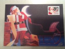 1991 Christmas Stamp FDC First Day Cover 10/17/1991 Santa, ID Postmark list