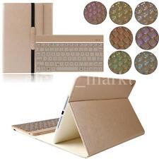 iPad Air 2 Leder Hülle beleuchtet Bluetooth Tastatur Case Smart Cover Qwertz