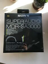 Sony MDR-SA3000 Headband Headphones - Black,USED, WITH BOX, WORK GREAT!