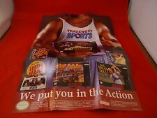 Tradewest Super Nintendo NES Foldable Promo Poster Insert ONLY Indy Heat Offroad
