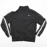 NIKE Black Embroidered Logo 3 Stripe Full Zip Sports Jacket Men's Size Medium