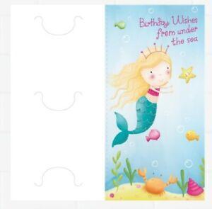 """Hallmark Money Card Wallet Mermaid Design """" Birthday Wishes From Under the Sea"""""""
