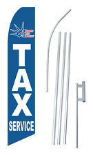 Liberty Tax Service Banner Flag Sign Display Complete Kit Tall Business