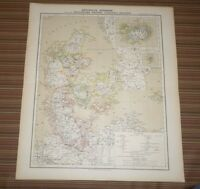 Carl Flemming scenic Map of Denmark (Circa 1850) Map in German