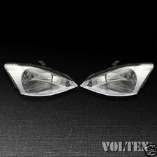 2000-2002 Ford Focus Set of 2 Headlight Lamp Clear lens Halogen Pair