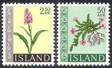 Iceland 1968 Flowers/Nature/Orchid/Plants 2v set n23812