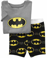 2pcs Baby Boy Kids Toddler Top+Pants Shorts Sleepwear Pajama Set Outfit Batman