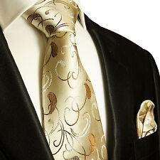 Gold braune Krawatten Set 2tlg Seidenkrawatten 915
