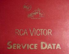 Service Data for Vintage RCA Radios Phonographs TVs