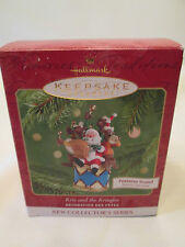 "Hallmark Ornament 2001 ""Kris and the Kringles"" Features Sound 1st in Series New"