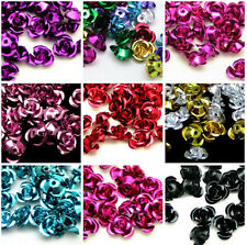 100pcs Rose Flower Aluminum Jewelry Making Spacer Beads 6mm For Bracelet